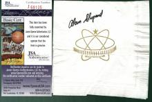 Alan Shepard Signed Skydome Napkin JSA J69135 Second Person and First American To Travel Into Space