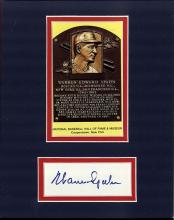 Warren Spahn Cut Signature Matted with a Photograph Certified by JSA James Spence Authentication