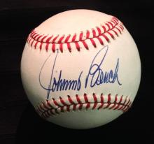 Johnny Bench Single Signed Official William D. White National League Baseball