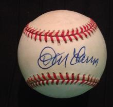 Don Larsen Single Signed Rawlings Official National League Leonard Coleman Baseball