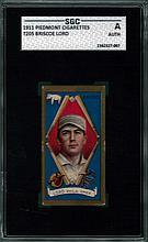 1911 Piedmont Cigarettes T205 Briscoe Lord SGC A