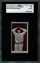 1912 Recruit Little Cigars T207 Rube Marquard SGC A