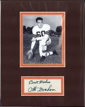 JSA Otto Graham Signed Index Card and Photograph