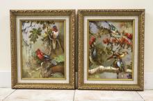 Oil on Canvas Artist Signed Luis Ramirez Set of 2