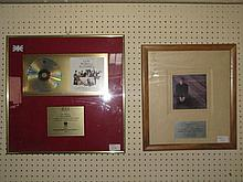 A framed CD of the music from 'Four Weddings and a Funeral' presented to Elton John to recognise sales in the UK of more than 100,000 copies and a presentation frame in recognition of Double Platinum Sales for 'Love Songs' in New Zealand.