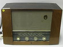 A Pye Fen Man I Walnut Cased Radio