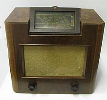 A Philipps Walnut cased radio