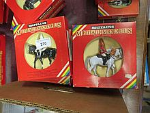 Britains Metal Models: Queen with Horseguard and Lifeguard, 2 X 7231, 2 X 7232, 7230 & 7247