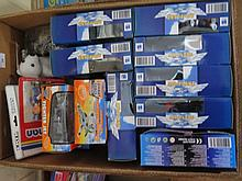 Box of 9 NewRay Hobby Dax Air-plane Die cast Models and other aeroplane modles (two Large boxes)