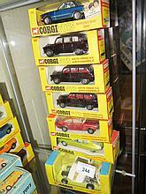 Seven Corgi Die Cast Cars
