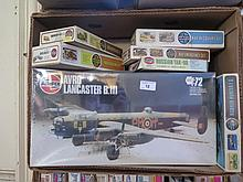 Box of 13 Airfix Aeroplane and other models