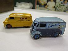 Dinky Morris 10 CWT Van 'Capstan' and Bedford 'Kodak'