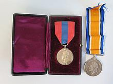 WWI War Medal inscribed R. SODEN. SERVICE WITH THE ROYAL NAVY and Constabulary Medal