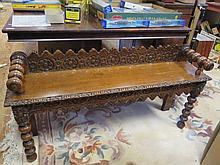 Carved Oak Window Seat