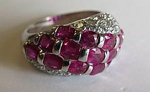 An 18ct Gold Ruby and Diamond Ring