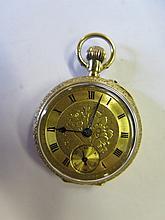An 18ct Gold Ladies Pocket Watch