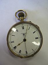 A 9ct Gold Pocket Watch _ running