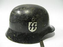 A German World War II Waffen SS Helmet