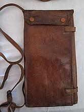 Officers Leather Map Case with shoulder strap