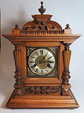 A German Mahogany cased Mantle Clock