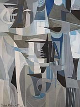 Babs Redpath, Armoured Forms 1966 _ abstract, watercolour, 27 x 15cm, F