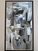 Sam Pope, Mountainous Scene, oil on board, 34.5 x 25cm, framed and Attrb. Sam Pope, Lake Scene, oil