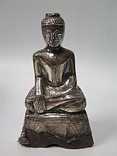 An Asian Silver Overlay Buddha