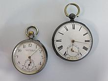 Two Silver Cased Pocket Watches - running