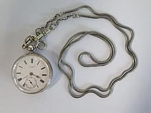 A J. W. Benson Silver Cased Pocket Watch, The Ludgate Watch _ running
