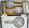 A George V Silver Backed Mirror and Brush Set