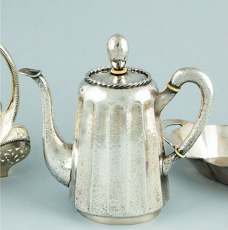 A Hungarian silver teapot