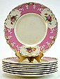 8 George Jones Plates With Pink & Floral Border
