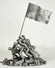 Fine Limited Edition Pewter Iwo Jima Statue