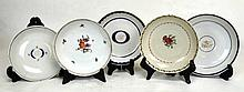 Five Chinese Export Porcelain Dishes