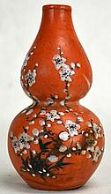Chinese Copper Red Double Gourd Porcelain Vase