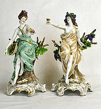 Two German Kister Porcelain Figures