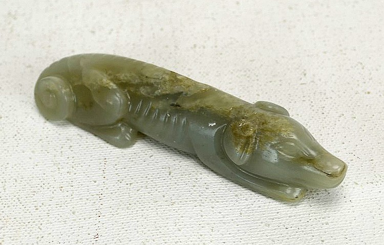 Chinese Carved Jade Dog