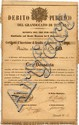 Debito Pubblico del Granducato di Toscana - Rendita del Tre per cento - R.D. 3 Novembre 1852