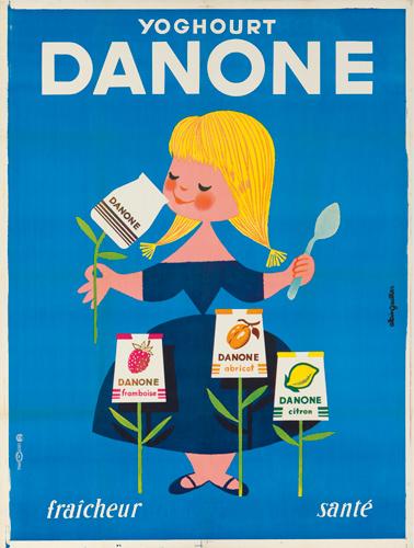 Danone. ca. 1955. Rare Poster