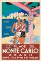 La Plage de Monte Carlo. 1929