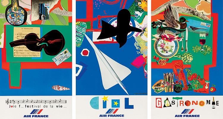 Vie du Monde: 13 Air France Posters. 1980-1981
