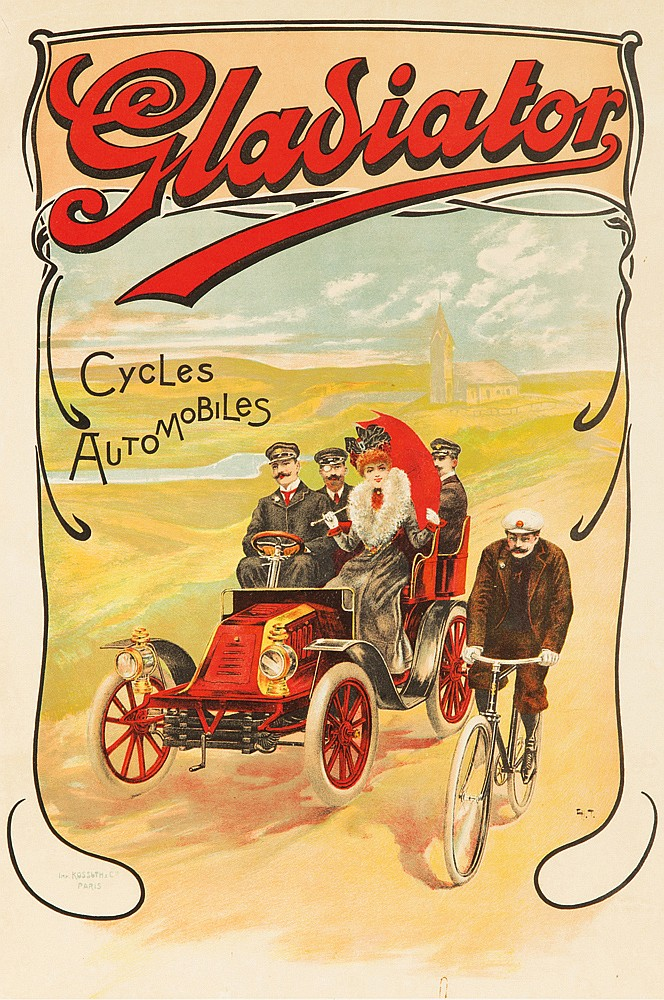 Gladiator / Cycles-Automobiles. ca. 1906