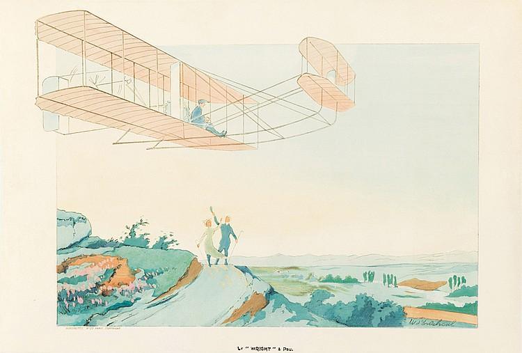 "Le ""Wright"" à Pau. 1909"