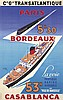 Transatlantique / Paris-Bordeaux-Casablanca. 1951