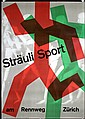 Original 1950s Swiss Design Straubli Sports Poster