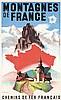 Original 1930s French Mountain Travel Poster PONTY Art