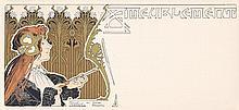 RARE ORIGINAL 1890s Privat Livenmont Art Nouveau Card