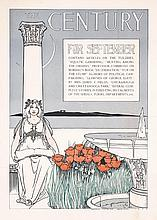 Original 1890s The Century Art Nouveau Poster EDWARDS