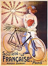 RARE Original 1900s French Bicycle Poster NOEL DORVILLE