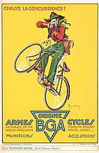 Original 1930s BGA Cowboy Bicycles and Guns Poster Plakat